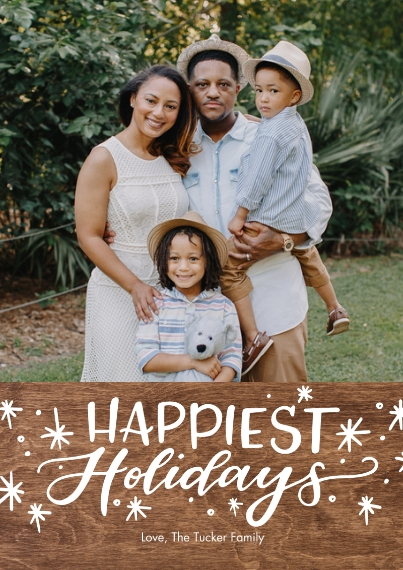 Holiday Photo Cards Flat Glossy Photo Paper Cards with Envelopes, 5x7, Card & Stationery -Holiday Happiest Stars by Tumbalina
