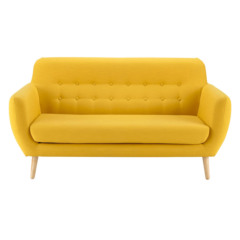 Skandinavischer Sofa 2/3-Sitzer, gelb Iceberg
