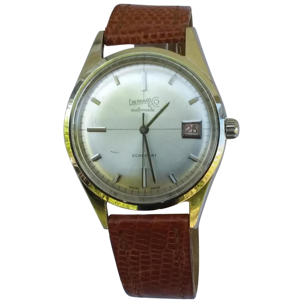 Eberhard \N Silver Steel watch for Men \N
