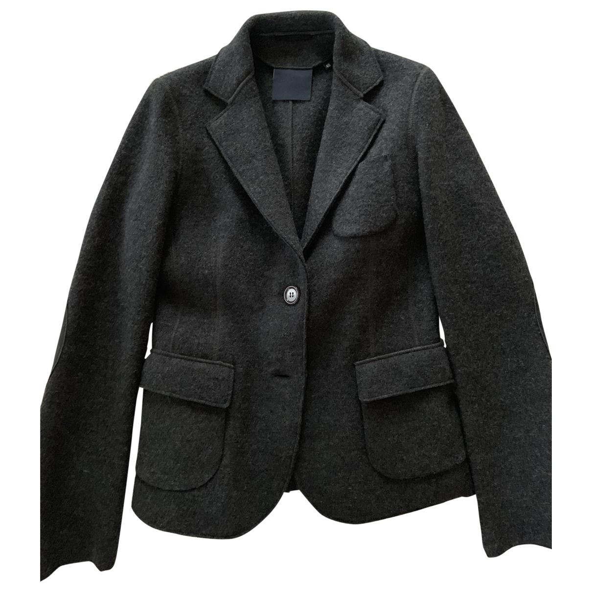 Aspesi \N Jacke in  Grau Wolle