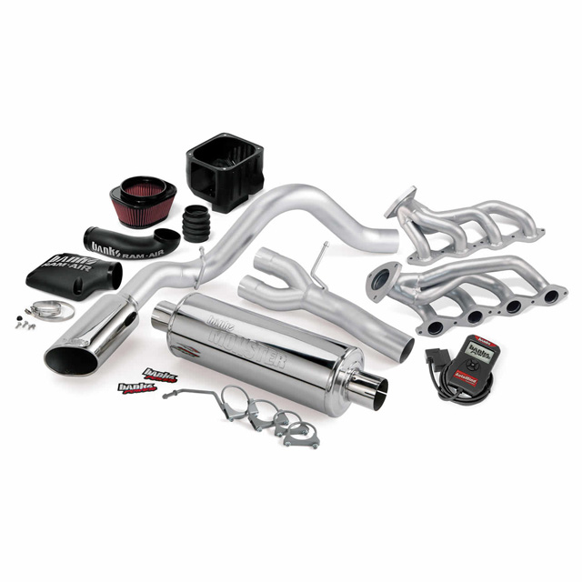 PowerPack Bundle Complete Power System W/AutoMind Programmer Chrome Tailpipe 09 Chevy 5.3L CCSB-ECSB FFV Flex-Fuel Vehicle Banks Power 48077