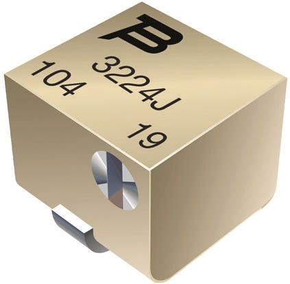 Bourns 1MΩ, SMD Trimmer Potentiometer 0.25W Side Adjust , 3224
