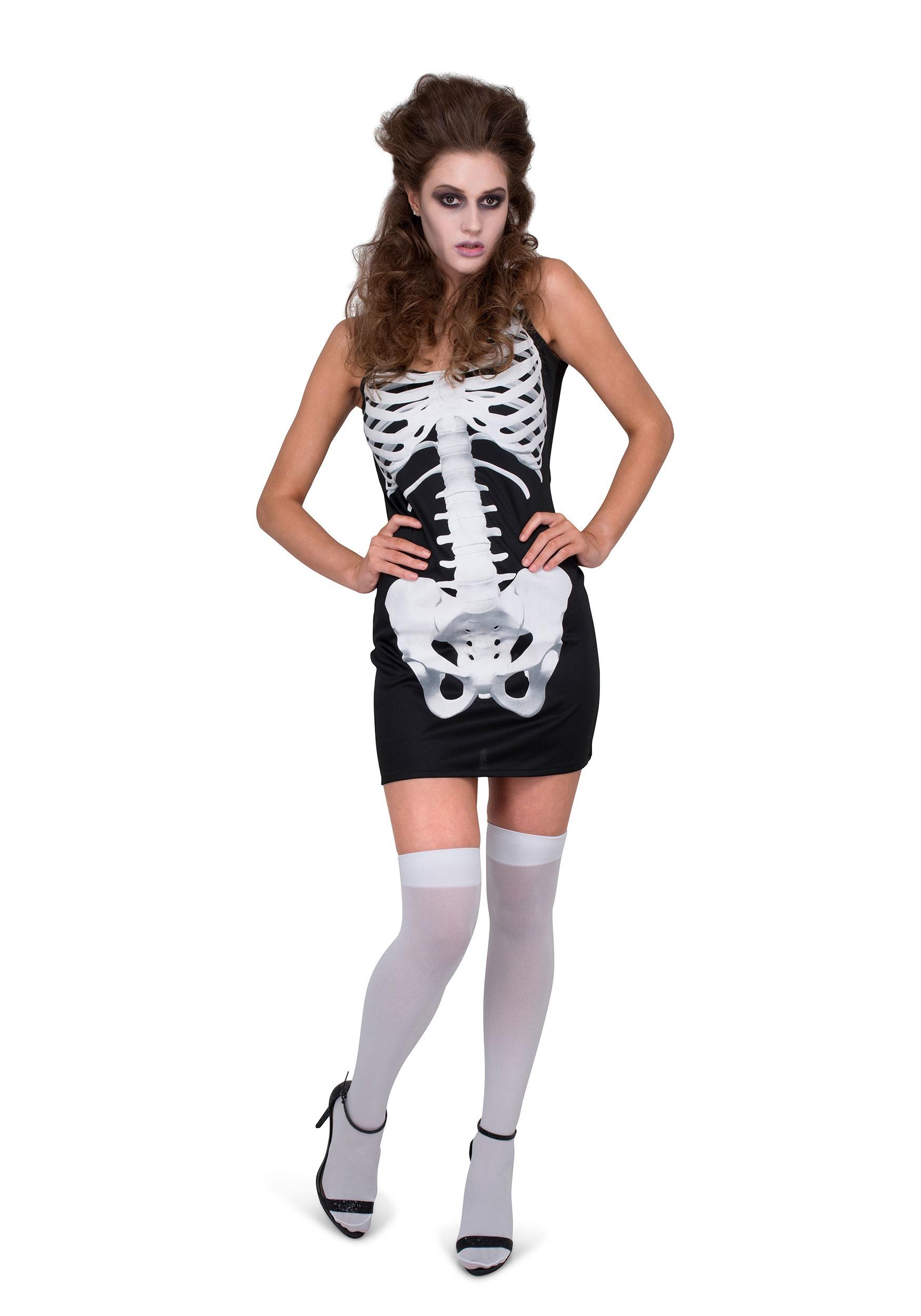 Womens Skeleton Dress Costume