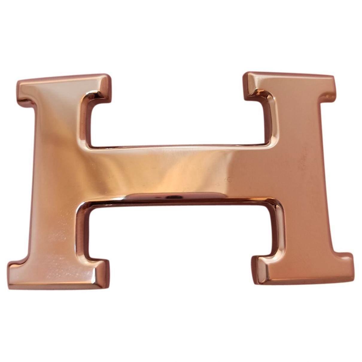 Hermes - Ceinture Boucle seule / Belt buckle pour femme en metal - argente