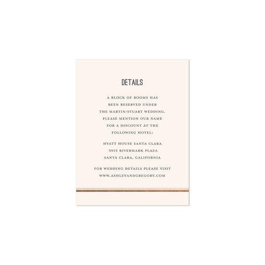 20 Pack of Gartner Studios® Personalized Classic Stripes Wedding All Purpose Card in Peach | 4.25