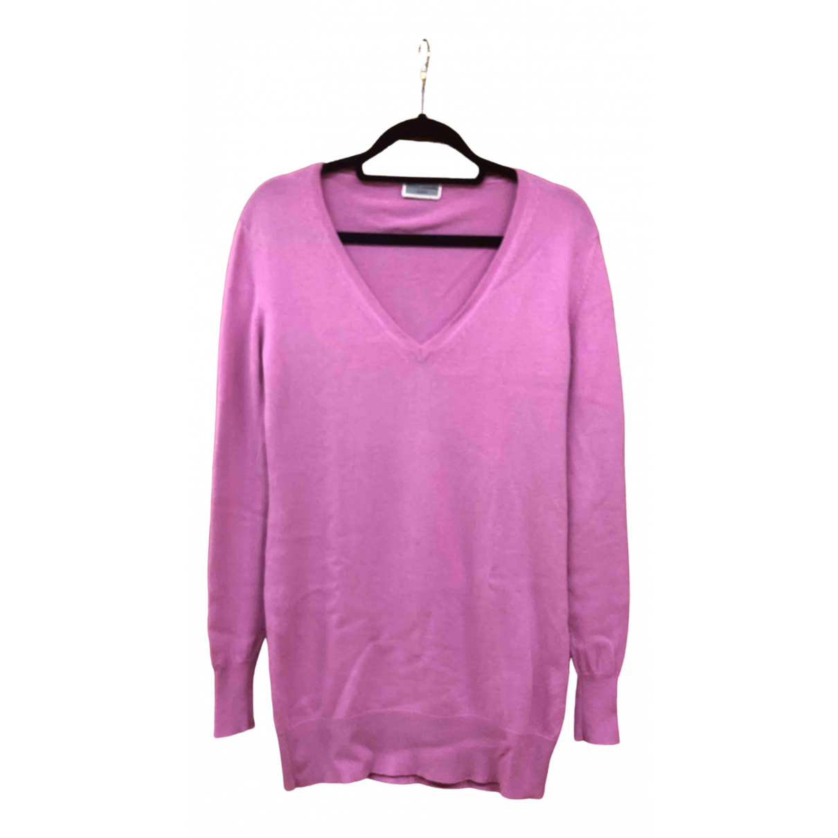 Non Signé / Unsigned Oversize Pink Cashmere Knitwear for Women M International