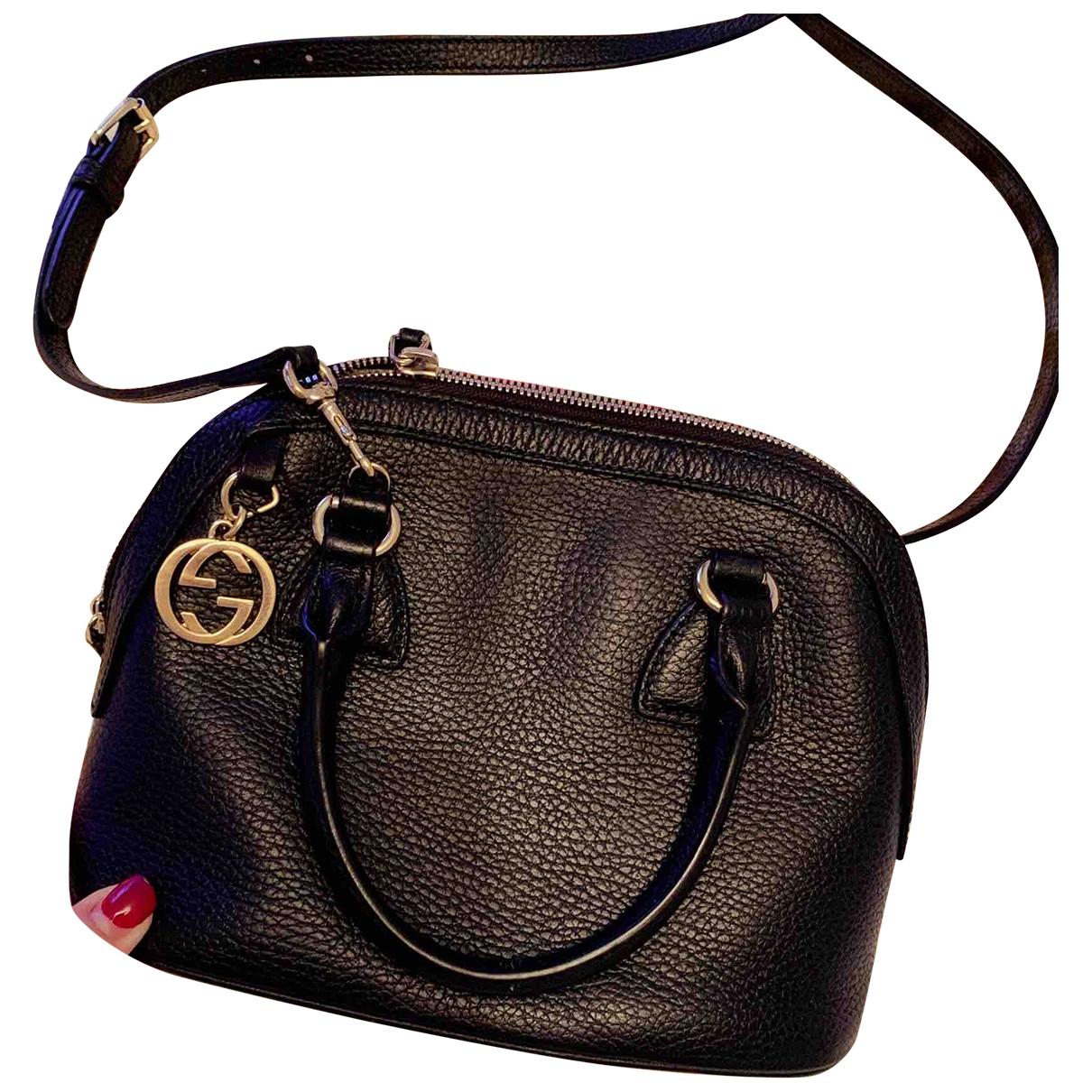 Gucci - Sac a main Dome pour femme en cuir - noir