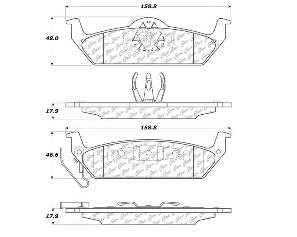 StopTech 106.1012 PosiQuiet Extended Wear Rear