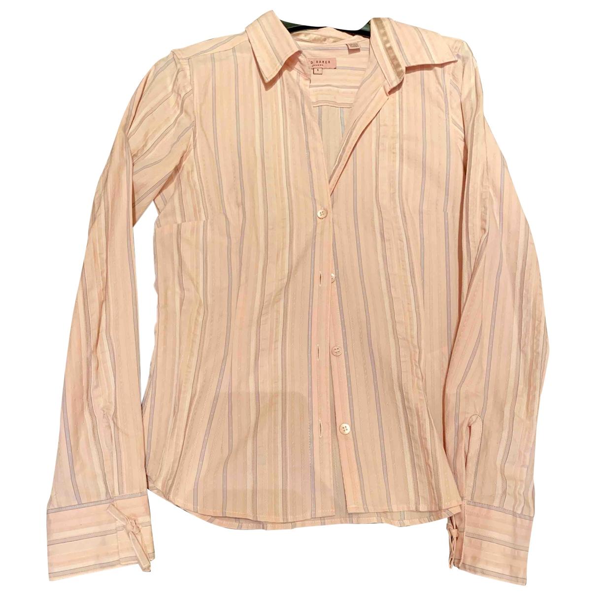 Ted Baker - Top   pour femme en coton - rose
