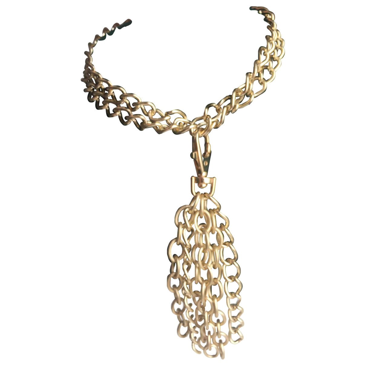 Non Signé / Unsigned Gourmette Gold Metal necklace for Women \N