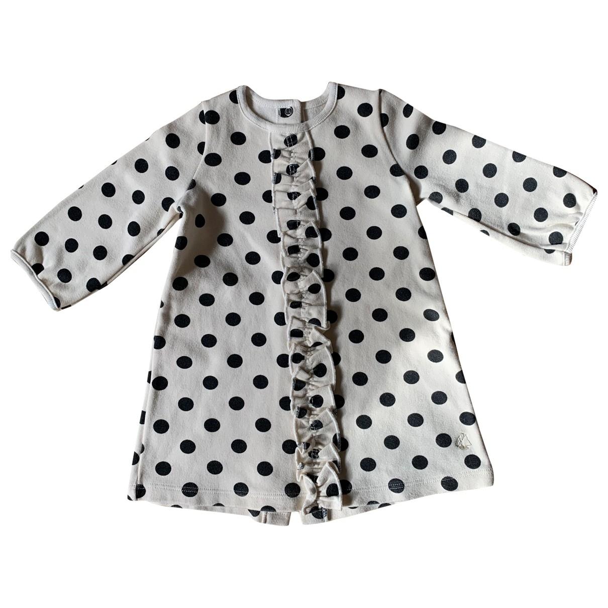 Petit Bateau - Robe    pour enfant en coton - beige