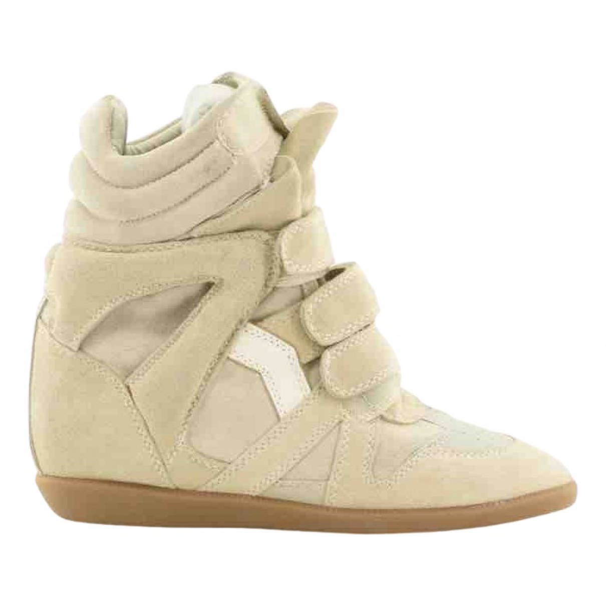 Isabel Marant Bayley Beige Suede Trainers for Women 39 EU