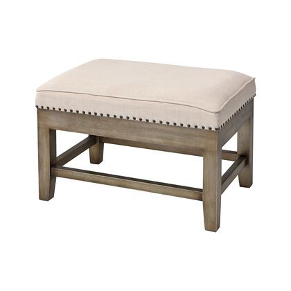 3169-096 Midnight Cowboy Stool  In Cream Linen And Silver With