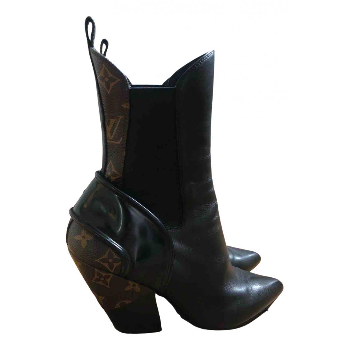 Louis Vuitton - Boots Fireball pour femme en cuir - noir