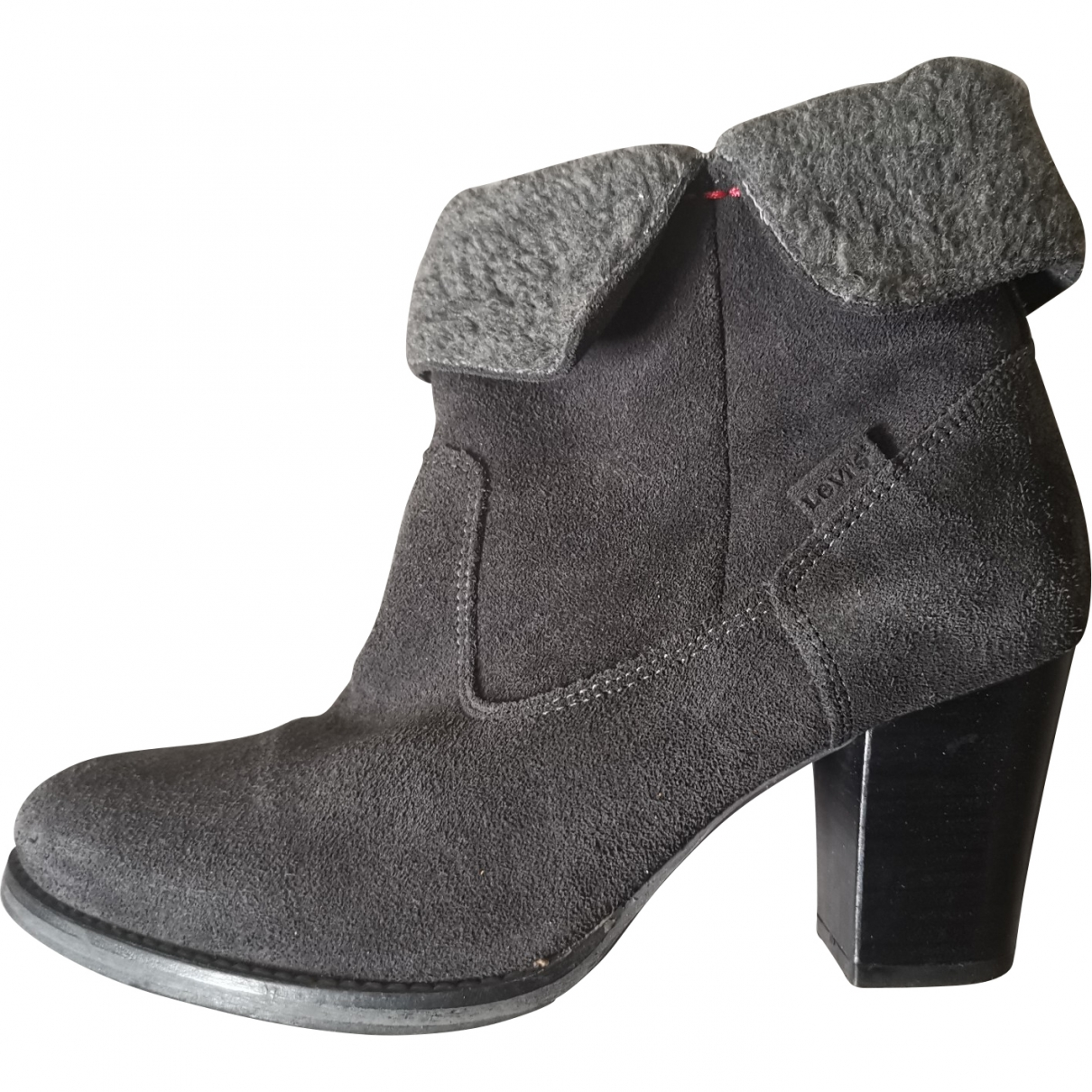 Levi's \N Grey Suede Ankle boots for Women 38 EU