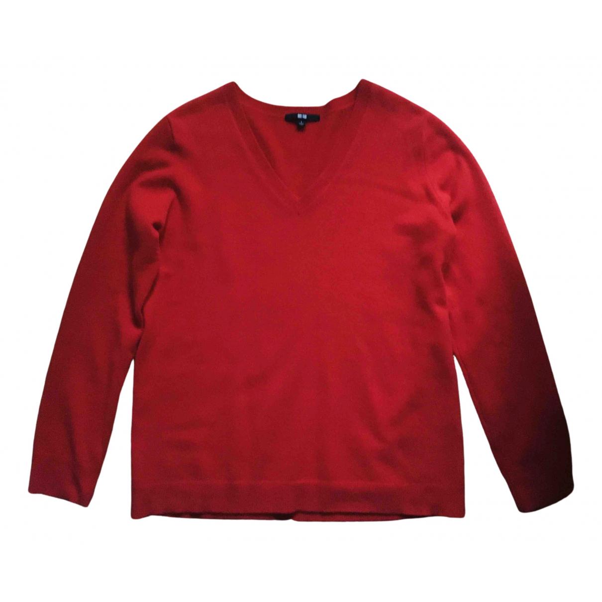 Uniqlo - Pull   pour femme en cachemire - rouge