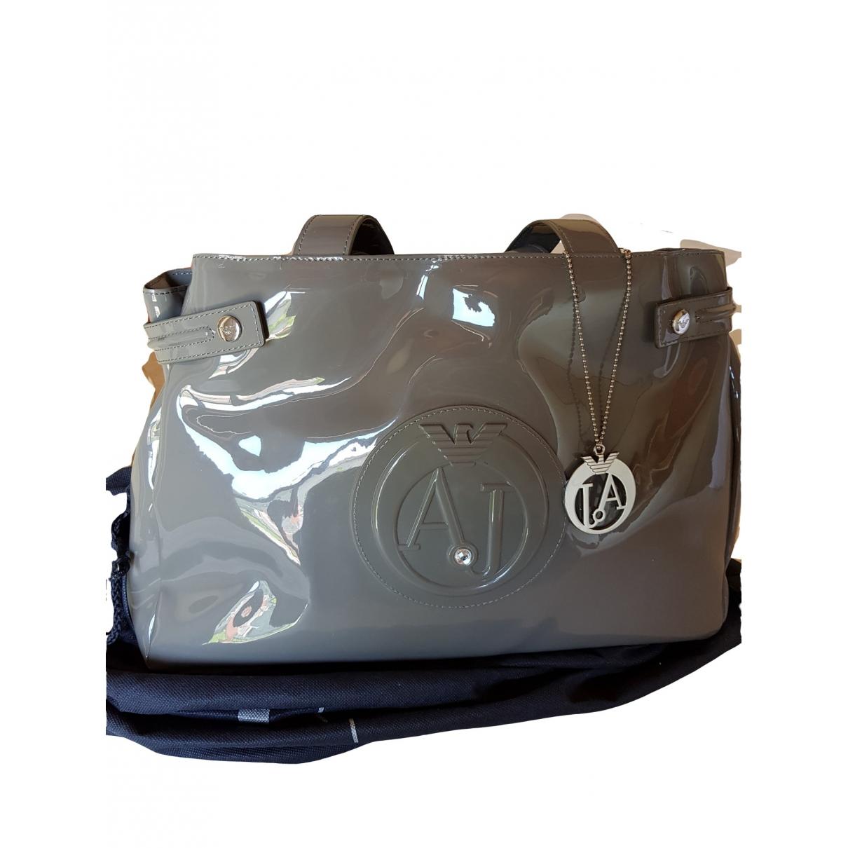 Armani Jeans \N Grey Patent leather handbag for Women \N