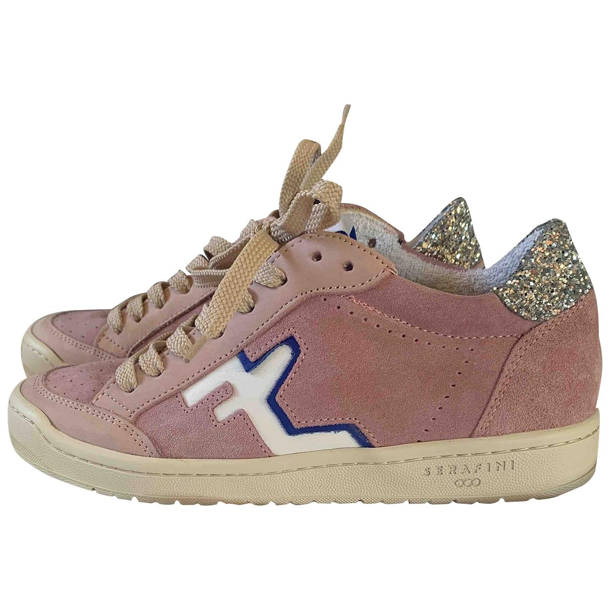 Serafini \N Sneakers in  Rosa Veloursleder