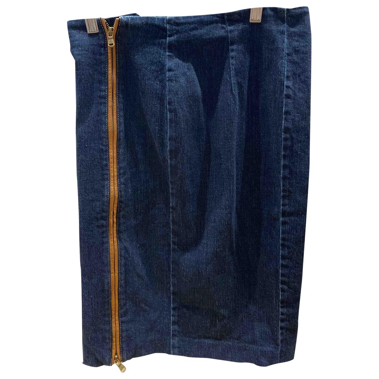 Lauren Ralph Lauren - Jupe   pour femme en coton - bleu