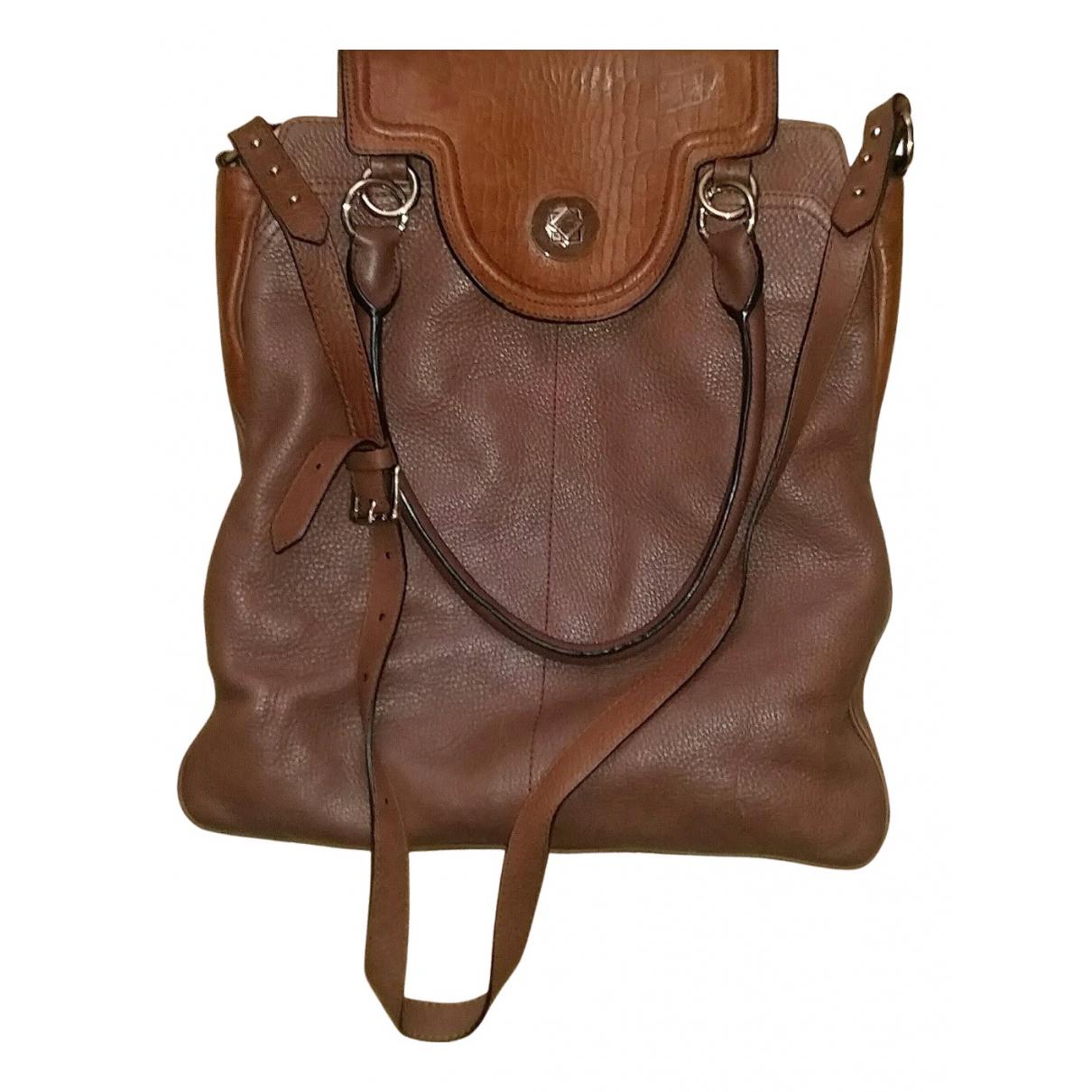 Whistles \N Handtasche in  Braun Leder