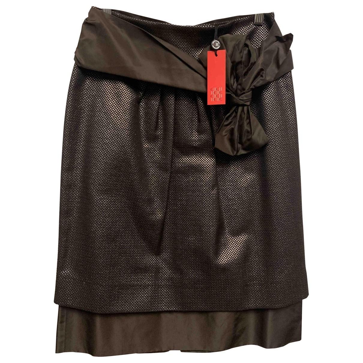 Carolina Herrera \N Brown Silk skirt for Women 38 FR
