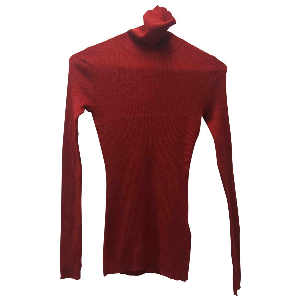 Uniqlo - Pull   pour femme en laine - rouge