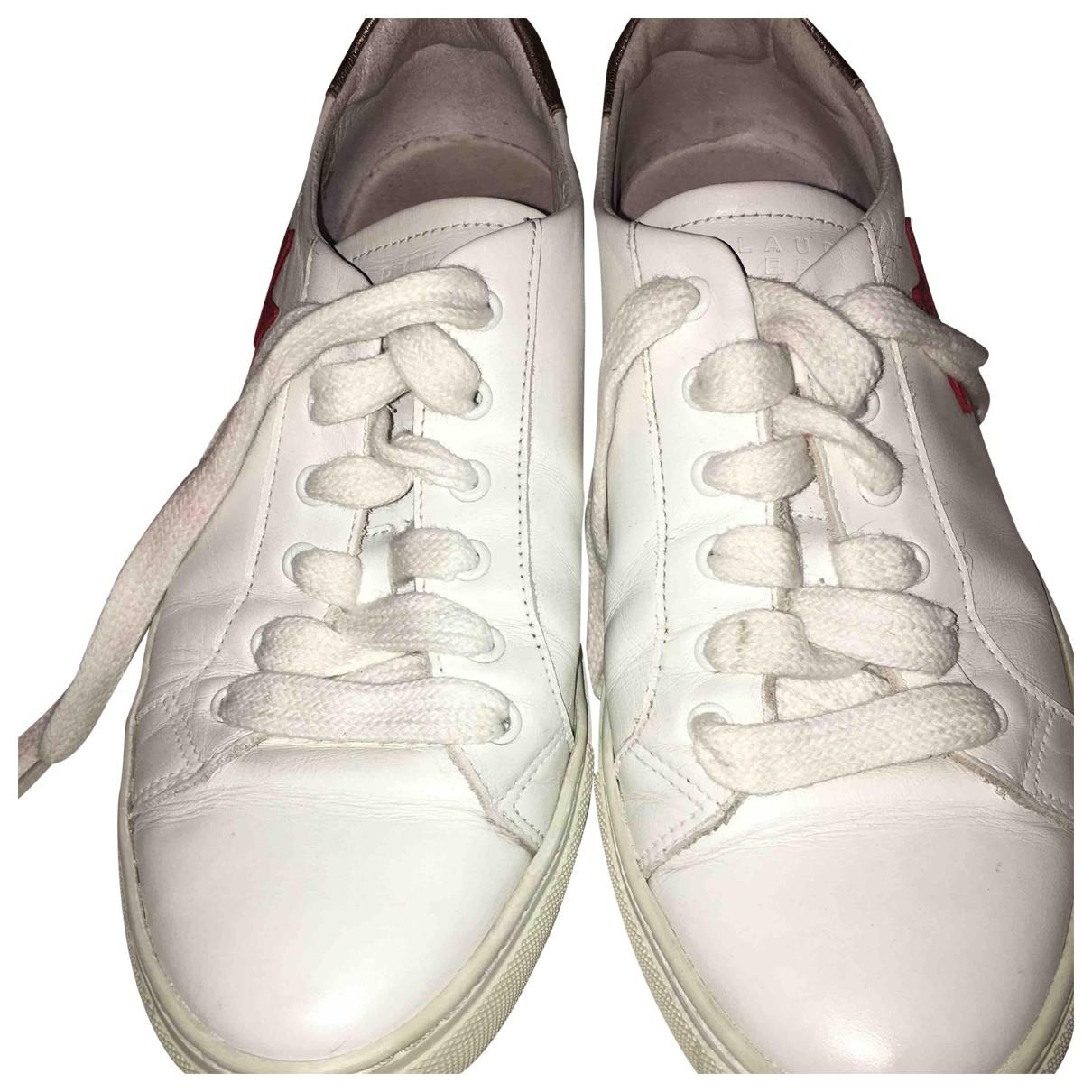 Claudie Pierlot \N Sneakers in  Weiss Leder
