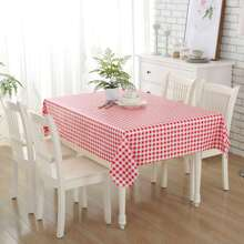 Gingham Pattern Tablecloth