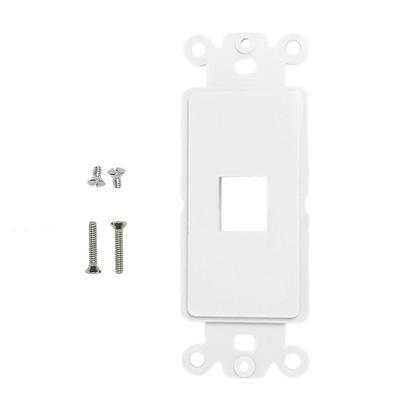 Decora Strap Insert Plate White - PrimeCables® - 1 Port