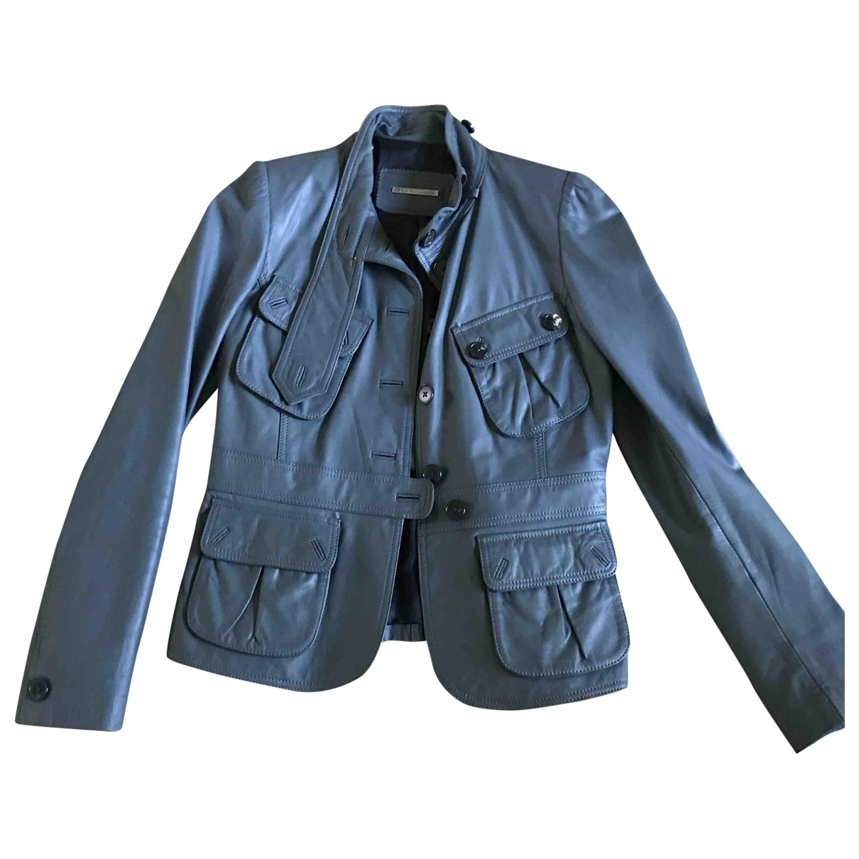 Barbara Bui \N Grey Leather Leather jacket for Women 40 FR