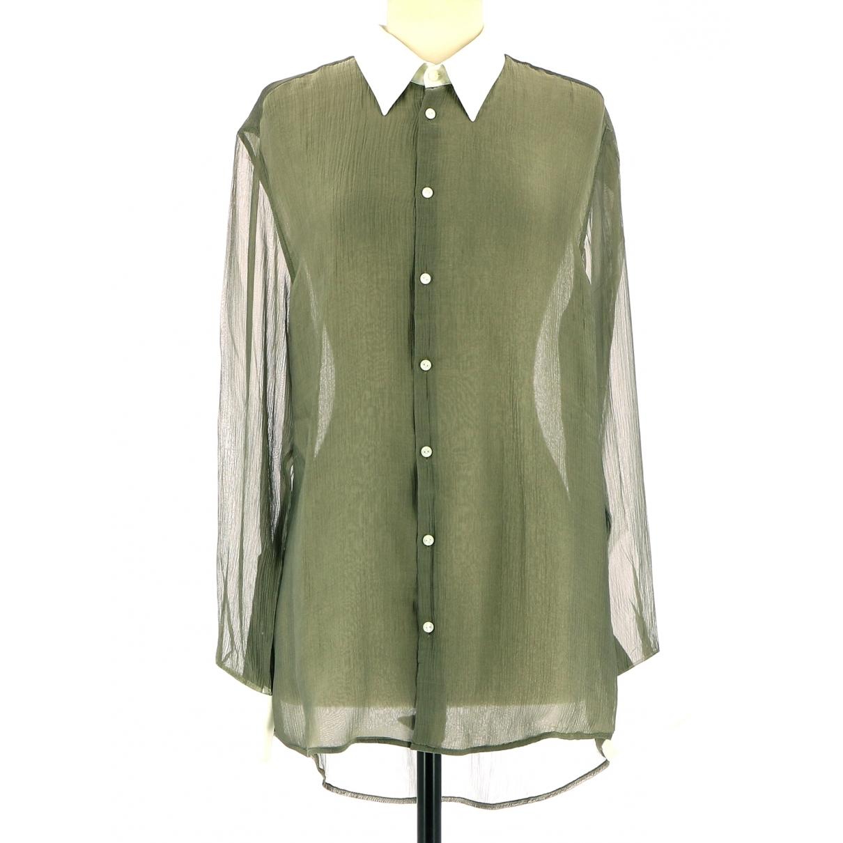 Non Signé / Unsigned \N Khaki Silk  top for Women 38 FR