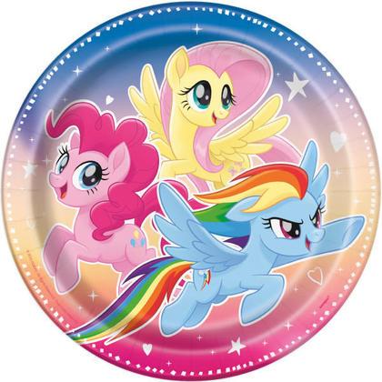My Little Pony 8 9 Plates Pour la fête danniversaire