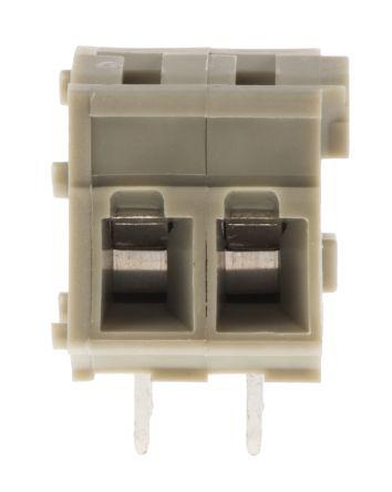 TE Connectivity 5mm Pitch, 2 Way PCB Terminal Strip, Grey (10)