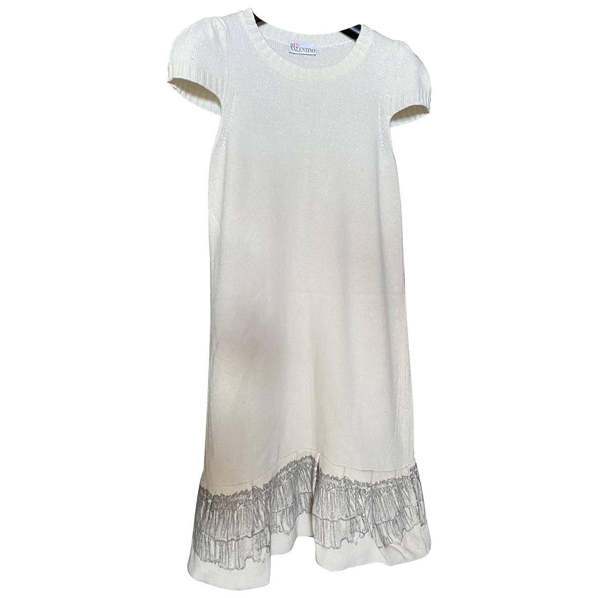 Red Valentino Garavani \N White Wool dress for Women S International