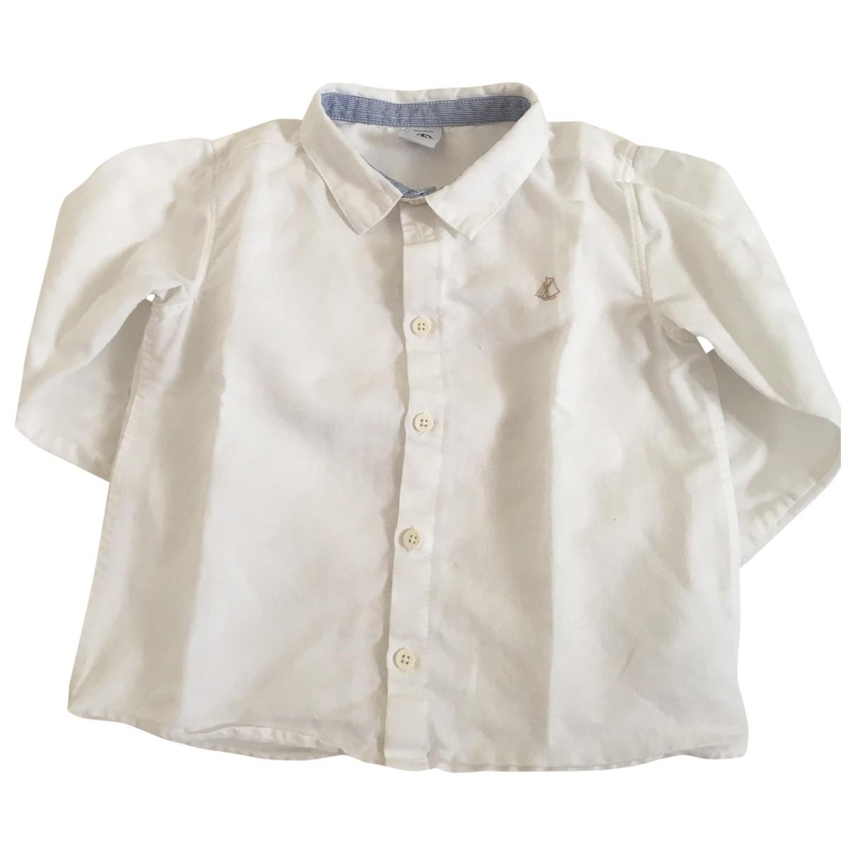 Petit Bateau - Top   pour enfant en lin - blanc