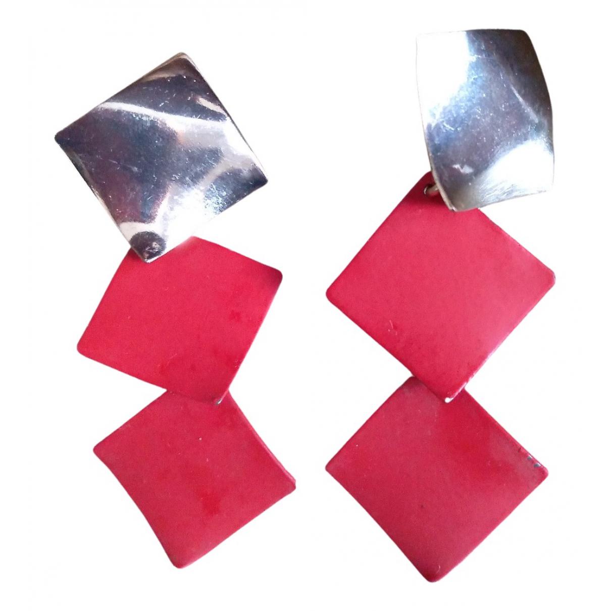 Add - Boucles doreilles   pour femme en acier - rouge