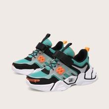 Boys Velcro Strap Mesh Chunky Sneakers