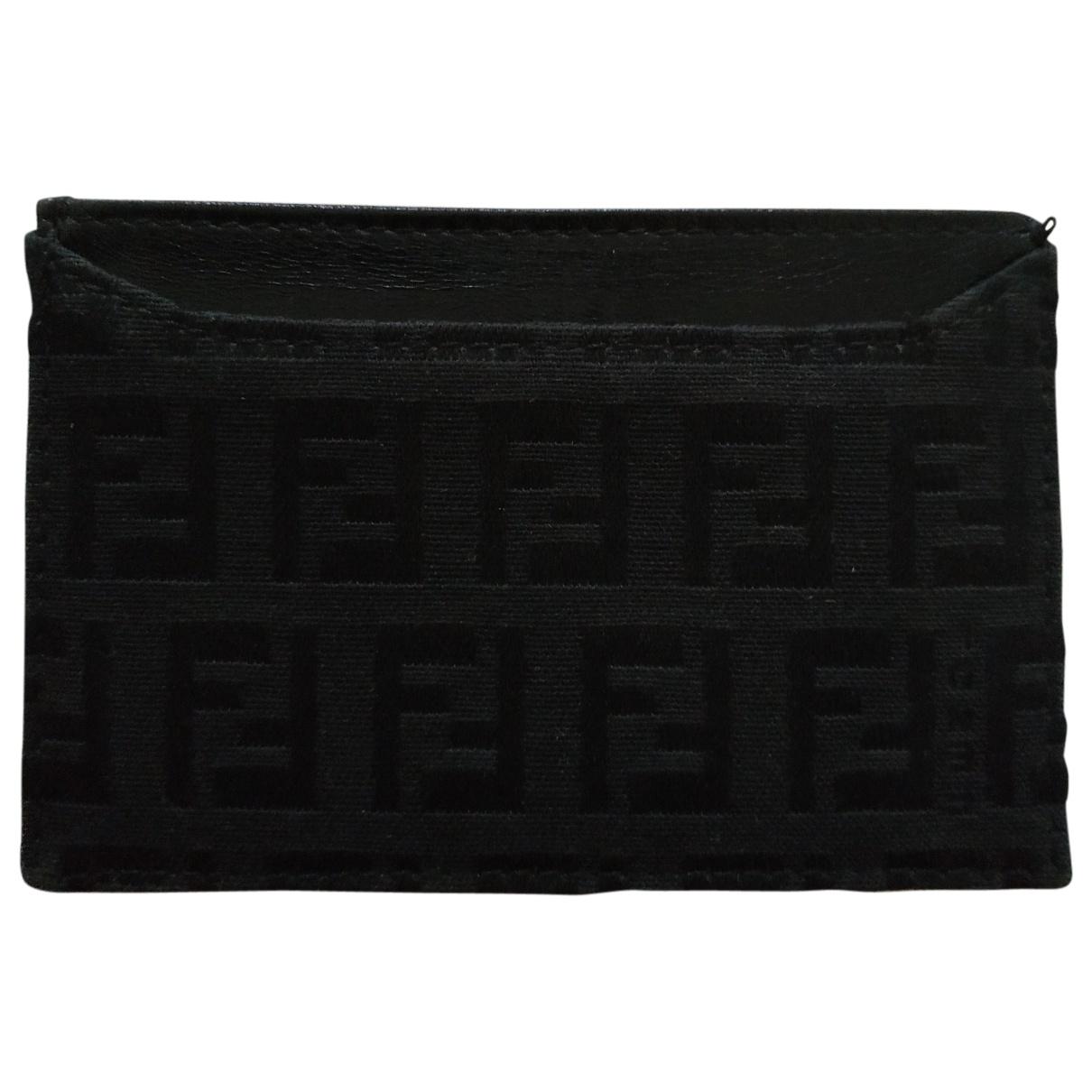Fendi - Petite maroquinerie   pour femme en toile - noir