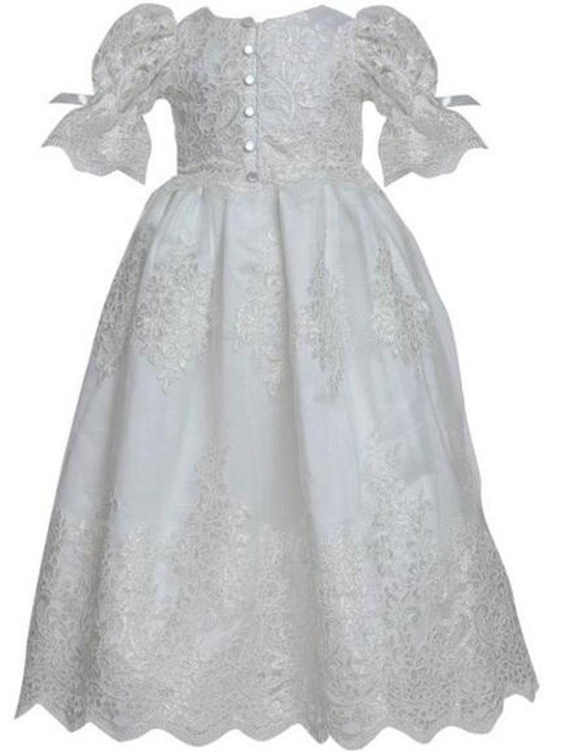 Ericdress Scoop Short Sleeves Ball Gown Christening Dress