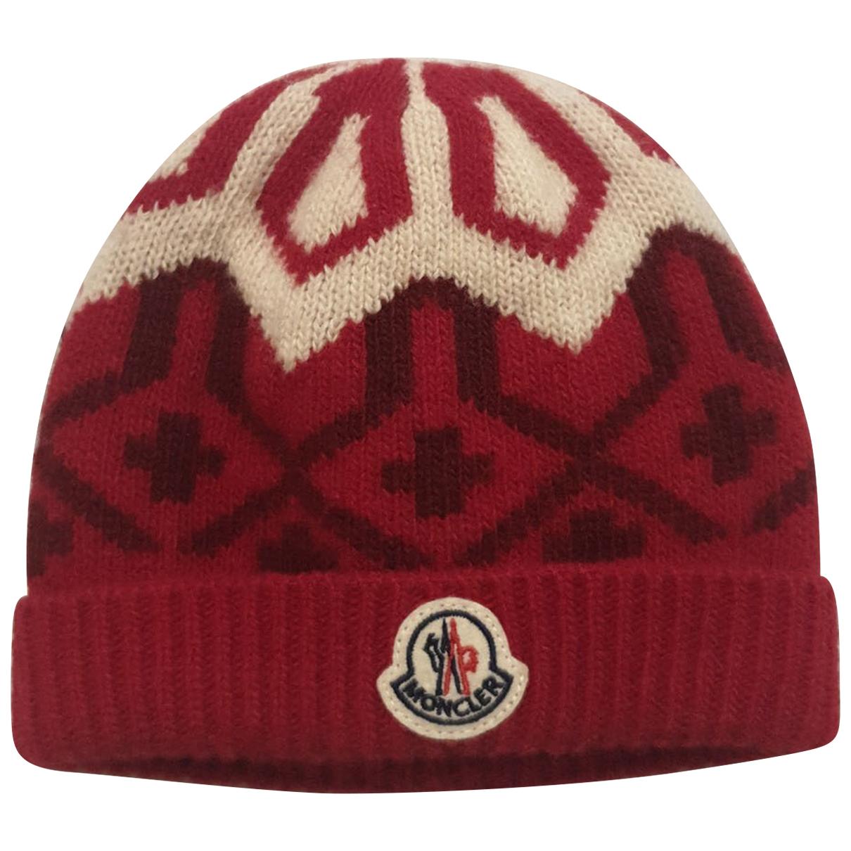 Moncler \N Hut, Muetzen, Handschuhe in  Rot Wolle