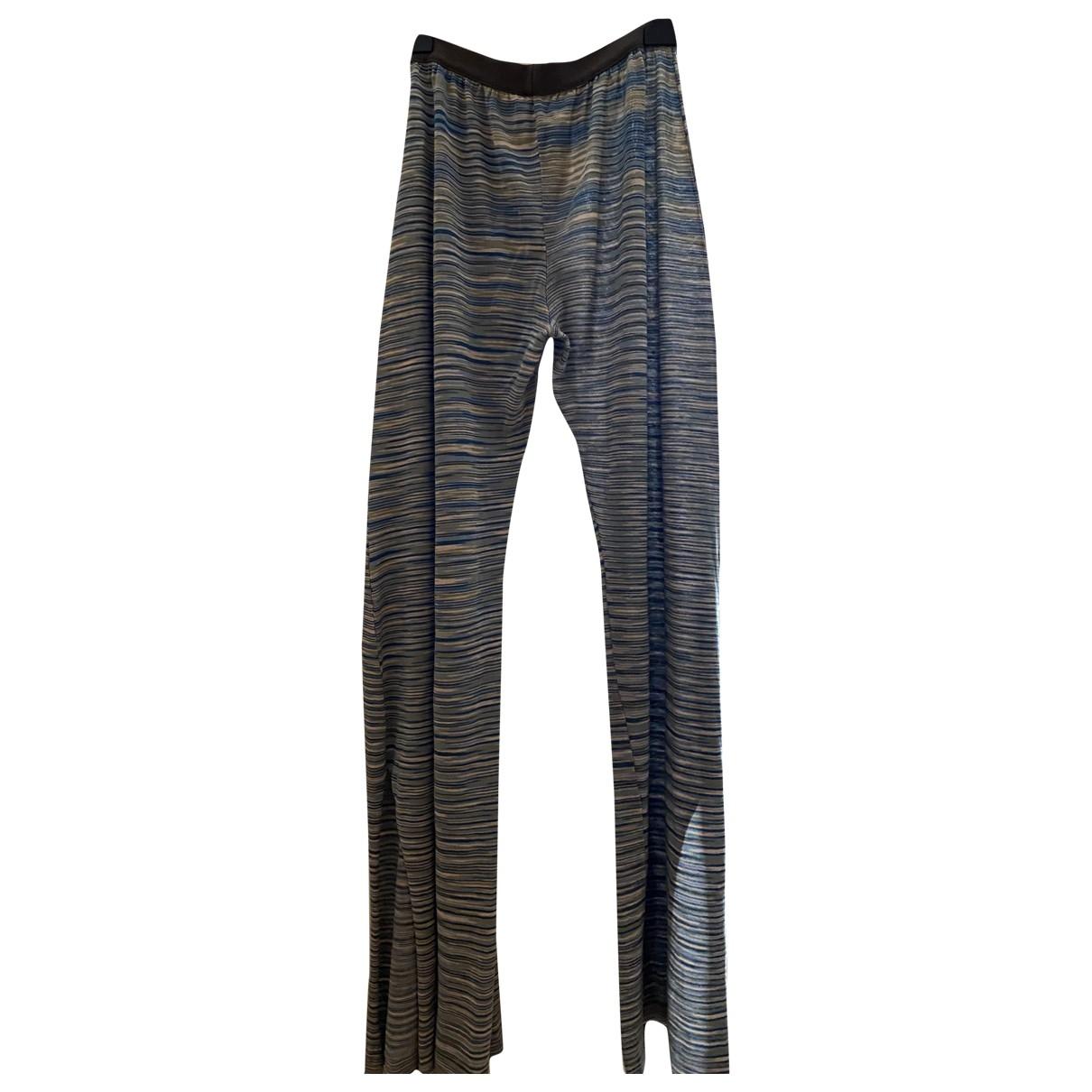 Jucca \N Multicolour Cotton Trousers for Women 42 IT