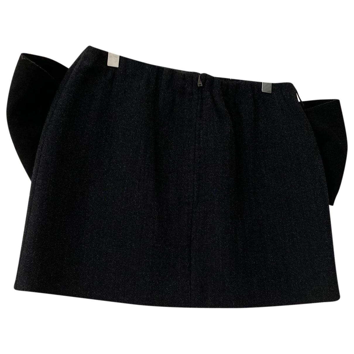 Miu Miu \N Grey Wool skirt for Women 38 IT