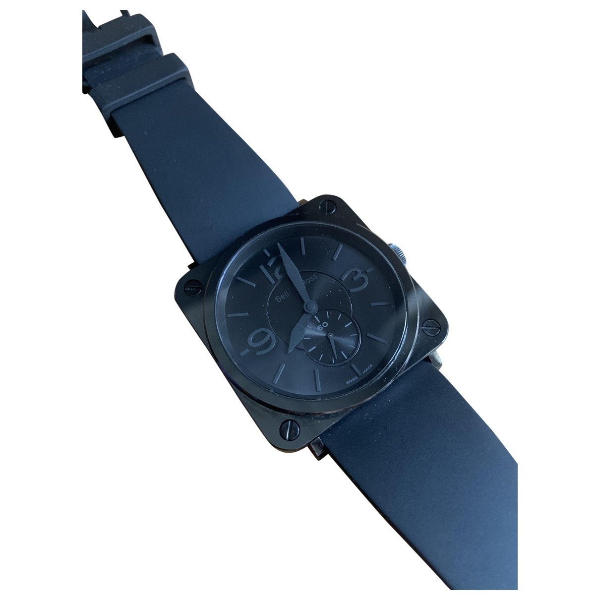Bell & Ross BRS Ceramic Black Uhr in  Schwarz Keramik