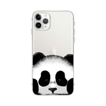 Panda Print Transparent iPhone Case