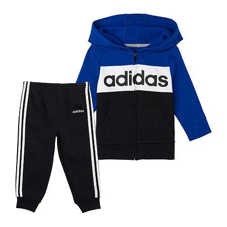 adidas Baby Girls 2-pc. Pant Set, 18 Months , Blue