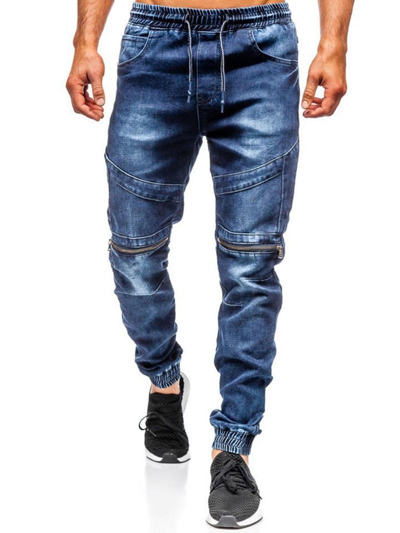 Ericdress Worn Hip Hop Lace-Up Jeans