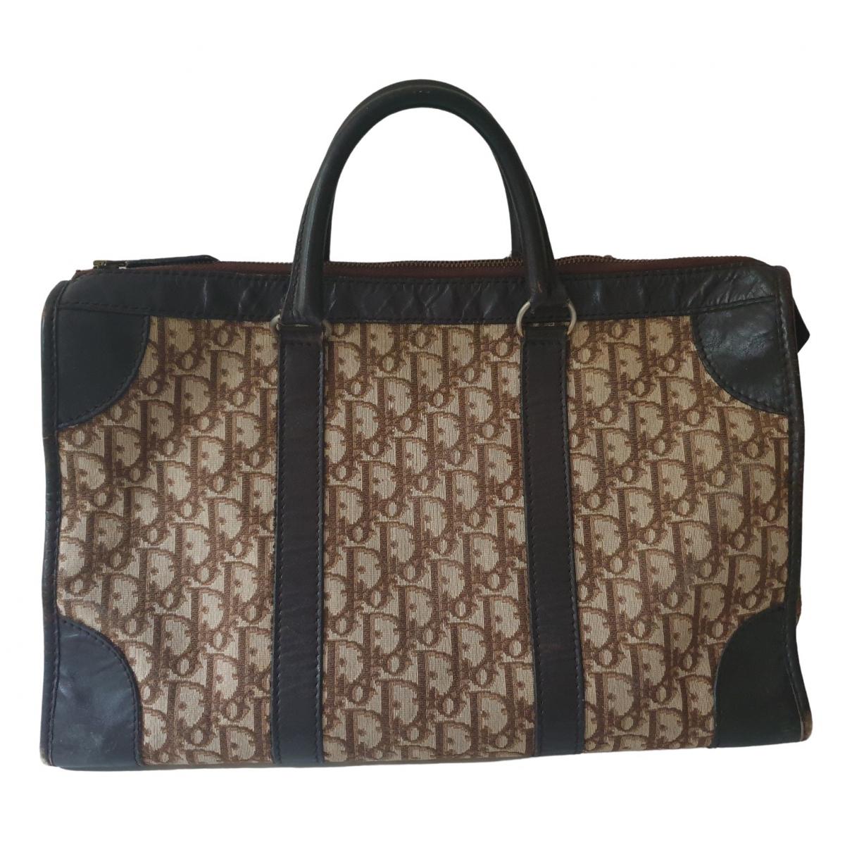 Dior \N Burgundy Cloth Travel bag for Women \N