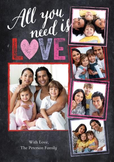 Valentine's Cards 5x7 Cards, Standard Cardstock 85lb, Card & Stationery -Valentine Love Heart