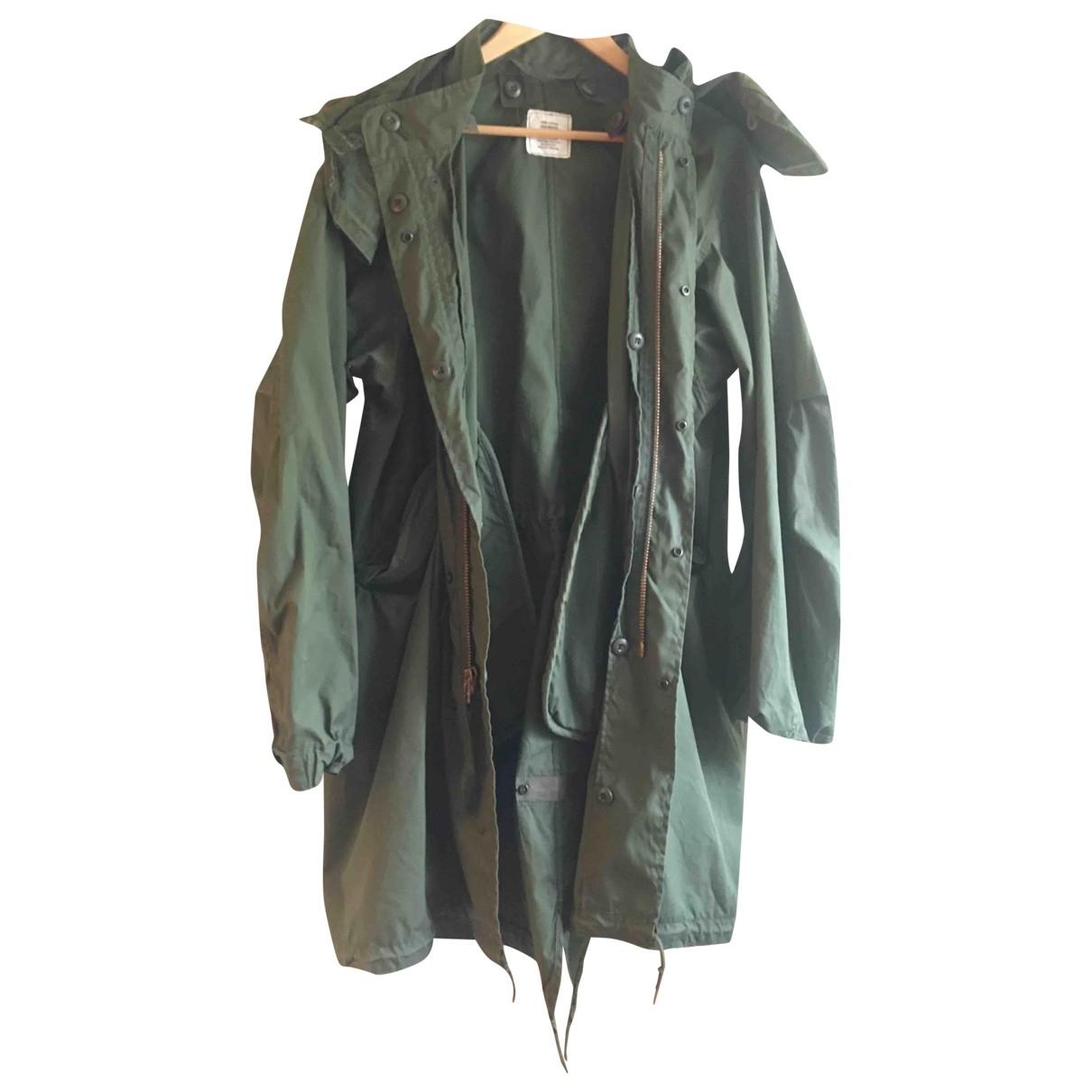 Non Signé / Unsigned Oversize Khaki Cotton coat for Women S International