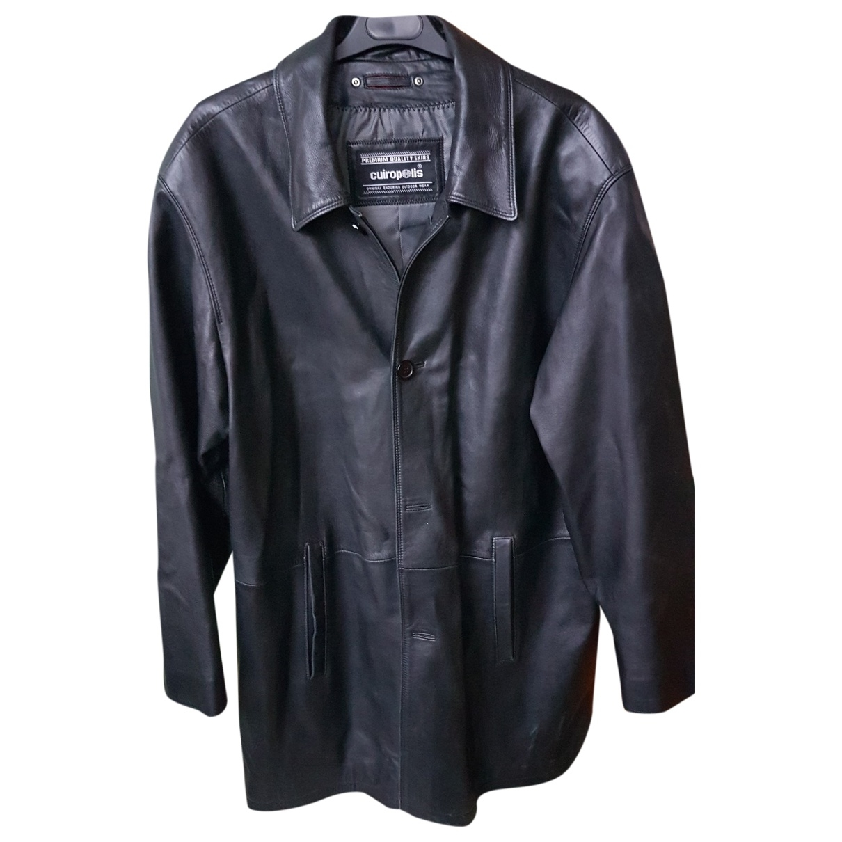 Non Signé / Unsigned \N Black Leather jacket for Women One Size FR